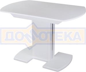 Стол со стеклом - Танго ПО-1 БЛ ст-БЛ 05-1 БЛ/БЛ ,белый