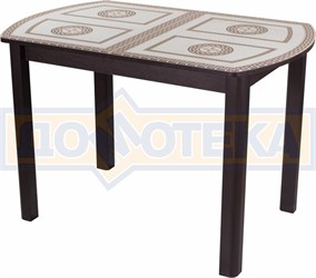 Стол со стеклом - Танго ПО-1 ВН ст-71 04 ВН ,венге