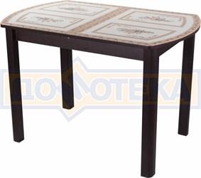 Стол со стеклом - Танго ПО-1 ВН ст-72 04 ВН ,венге