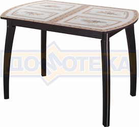 Стол со стеклом - Танго ПО-1 ВН ст-72 07 ВП ВН ,венге