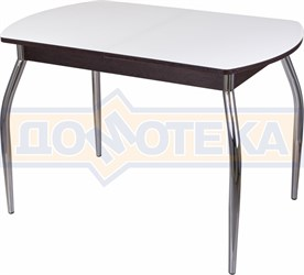 Стол со стеклом - Танго ПО-1 ВН ст-БЛ 01 ,венге