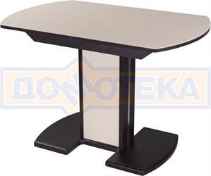 Стол со стеклом - Танго ПО-1 ВН ст-КР 05-1 ВН/КР  ,венге