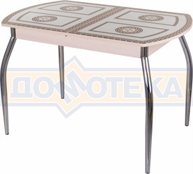 Стол со стеклом - Танго ПО-1 МД ст-71 01 ,молочный дуб