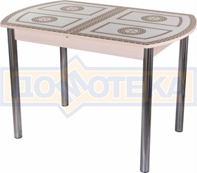 Стол со стеклом - Танго ПО-1 МД ст-71 02 ,молочный дуб