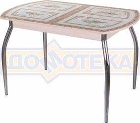 Стол со стеклом - Танго ПО-1 МД ст-72 01 ,молочный дуб