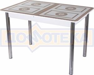 Стол со стеклом - Танго ПР БЛ ст-71 02 ,белый