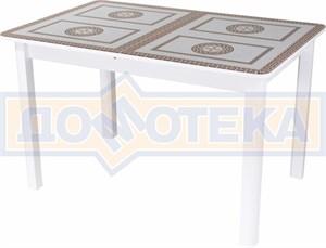 Стол со стеклом - Танго ПР БЛ ст-71 04 ВЛ ,белый