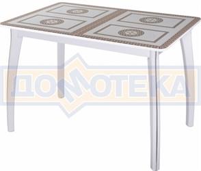 Стол со стеклом - Танго ПР БЛ ст-71 07 ВП БЛ ,белый
