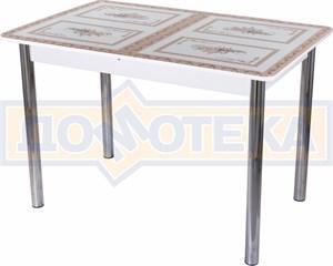Стол со стеклом - Танго ПР БЛ ст-72 02 ,белый