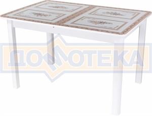 Стол со стеклом - Танго ПР БЛ ст-72 04 БЛ ,белый