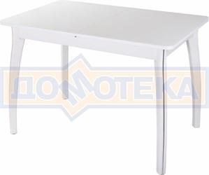 Стол со стеклом - Танго ПР БЛ ст-БЛ 07 ВП БЛ ,белый