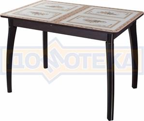 Стол со стеклом - Танго ПР ВН ст-72 07 ВП ВН ,венге