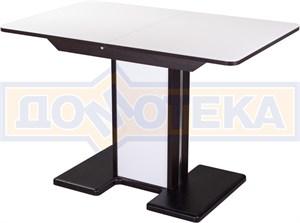 Стол со стеклом - Танго ПР ВН ст-БЛ 05 ВН/БЛ ,венге