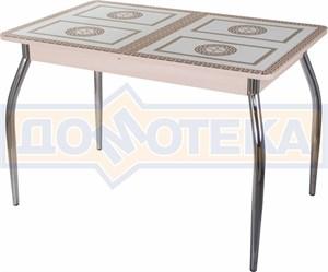 Стол со стеклом - Танго ПР МД ст-71 01 ,молочный дуб