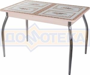 Стол со стеклом - Танго ПР МД ст-72 01 ,молочный дуб