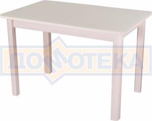 Стол со стеклом - Танго ПР МД ст-КР 04 МД ,молочный дуб