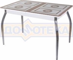 Стол со стеклом - Танго ПР-1 БЛ ст-71 01 ,белый