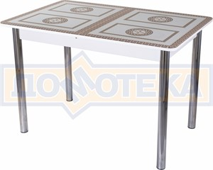 Стол со стеклом - Танго ПР-1 БЛ ст-71 02 ,белый