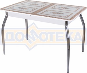 Стол со стеклом - Танго ПР-1 БЛ ст-72 01 ,белый