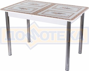 Стол со стеклом - Танго ПР-1 БЛ ст-72 02 ,белый