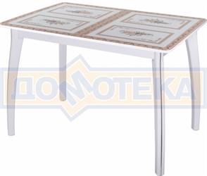 Стол со стеклом - Танго ПР-1 БЛ ст-72 07 ВП БЛ ,белый