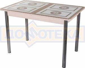 Стол со стеклом - Танго ПР-1 МД ст-71 02 ,молочный дуб