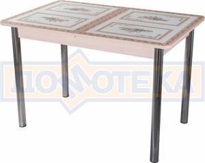 Стол со стеклом - Танго ПР-1 МД ст-72 02 ,молочный дуб