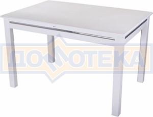 Стол с камнем - Самба-1 КМ 04 БЛ 08 БЛ, белый