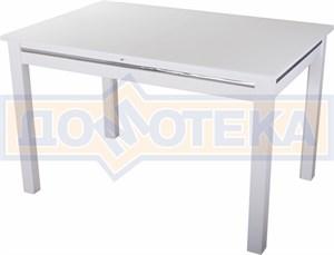 Стол со стеклом - Вальс-1 БЛ ст-БЛ 08 БЛ, белый
