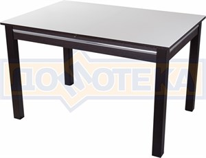 Стол со стеклом - Вальс-1 ВН ст-БЛ 08 ВН, венге