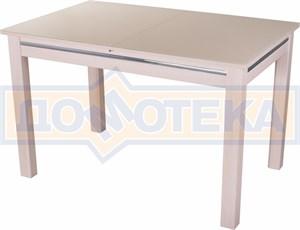 Стол со стеклом - Вальс-1 МД ст-КР 08 МД, молочный дуб