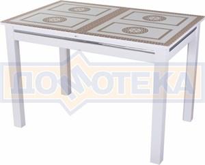 Стол со стеклом - Вальс-1 БЛ ст-71 08 БЛ, белый