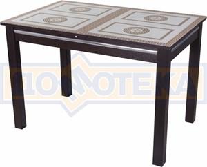 Стол со стеклом - Вальс-1 ВН ст-71 08 ВН, венге