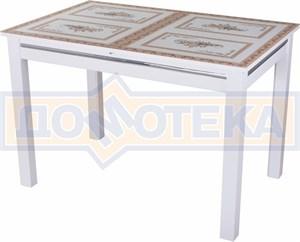 Стол со стеклом - Вальс-1 БЛ ст-72 08 БЛ, белый