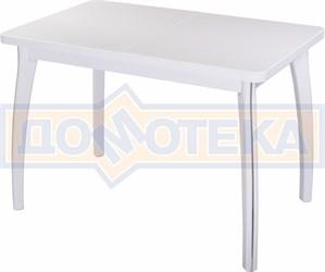 Стол с камнем - Румба ПР-1 КМ 04 БЛ 07 ВП БЛ ,белый