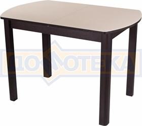 Стол со стеклом - Танго ПО-1 ВН ст-КР 04 ВН ,венге