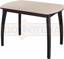 Стол со стеклом - Танго ПО-1 ВН ст-КР 07 ВП ВН ,венге