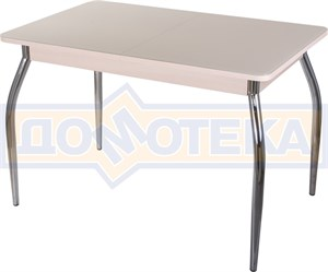 Стол со стеклом - Танго ПР-1 МД ст-КР 01 ,молочный дуб
