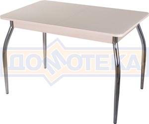 Стол со стеклом - Танго ПР МД ст-КР 01 ,молочный дуб