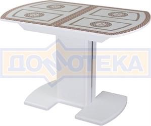 Стол со стеклом - Танго ПО-1 БЛ ст-71 05-1 БЛ/БЛ ,белый