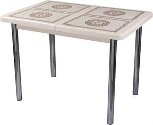 Стол с плиткой - Каппа ПР ВП КР 02 пл 52 ,крем
