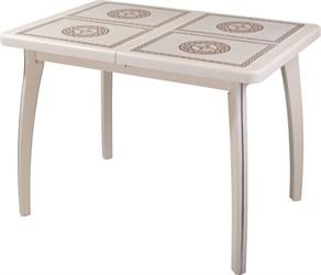 Стол с плиткой - Каппа ПР ВП КР 07 ВП КР пл 52 ,крем