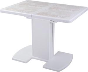 Стол с плиткой - Каппа ПР ВП БЛ 05 БЛ/БЛ пл 32 ,белый