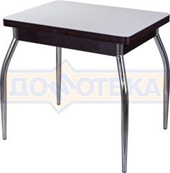 Стол кухонный Чинзано М-2 ВН ст-БЛ 01 венге, стекло белое