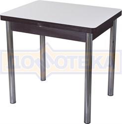 Стол кухонный Чинзано М-2 ВН ст-БЛ 02 венге, стекло белое
