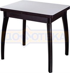 Стол кухонный Чинзано М-2 ВН ст-БЛ 07 венге, стекло белое