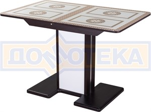 Стол со стеклом - Танго ПР ВН ст-71 05 ВН/БЛ ,венге
