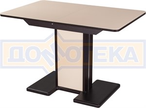 Стол со стеклом - Танго ПР-1 ВН ст-КР 05-1 ВН/КР  ,венге