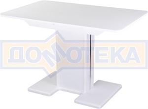 Стол со стеклом - Танго ПР-1 БЛ ст-БЛ 05-1 БЛ/БЛ ,белый