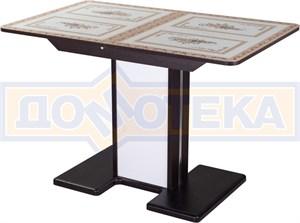Стол со стеклом - Танго ПР-1 ВН ст-72 05-1 ВН/БЛ ,венге
